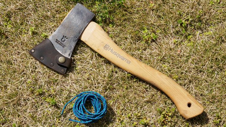 ハスクバーナ手斧のパラコード巻き方徹底解説!末端の処理方法や必要な長さは?