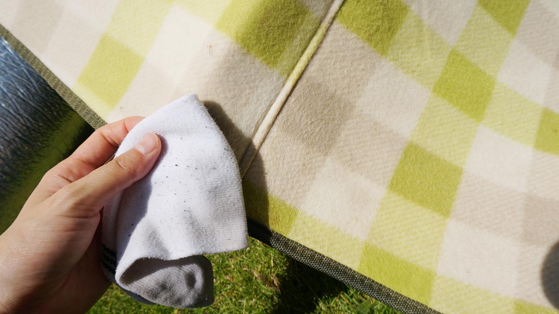 布製レジャーシートの洗濯方法!コールマンの特大サイズを洗ってみた