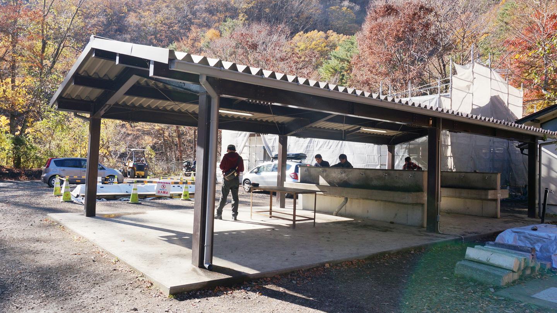 浩庵キャンプ場の設備(シャワー)