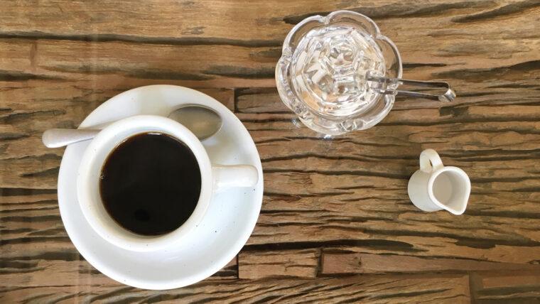 東京クラシックキャンプのカフェのコーヒー