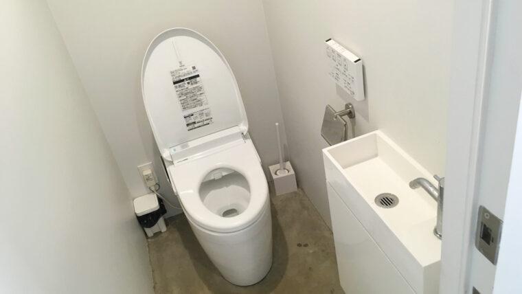 東京クラシックキャンプのカフェのトイレ